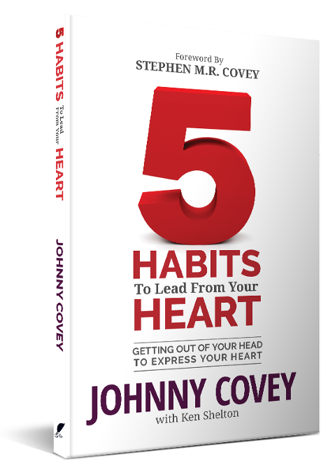 5 Habits To Lead From Your Heart Book Paperback Copy by Johnny Covey
